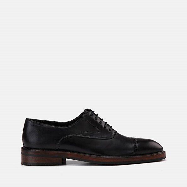 Resim Hakiki Deri Lacivert Erkek Klasik Ayakkabı