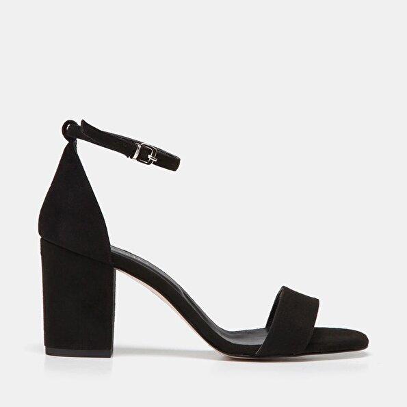 Resim  Siyah Kadın Topuklu Sandalet