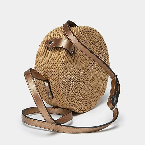 Resim Tekstil Bronz Çanta&Aksesuar Mini (Çapraz) Çanta