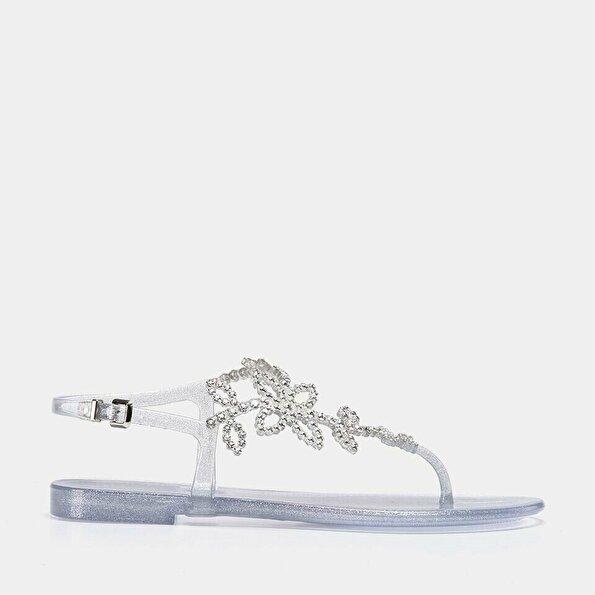 Resim  Lame Kadın Düz Sandalet