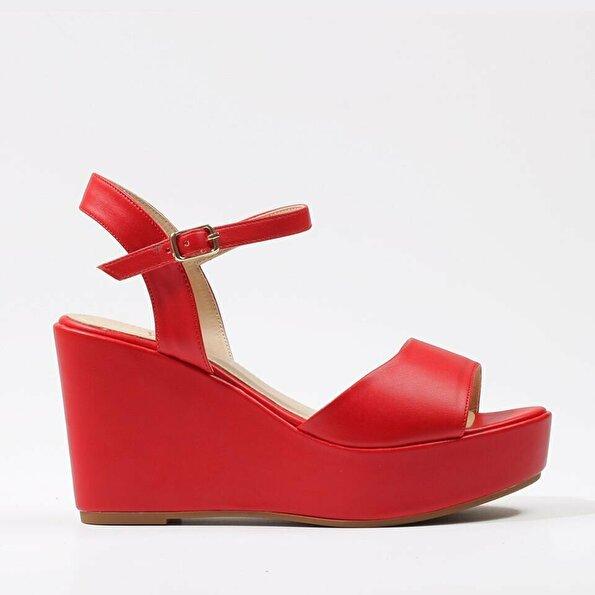 Resim  Kırmızı Yaya Sandalet