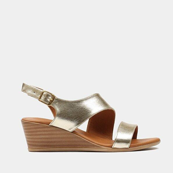Resim  Bronz Kadın Topuklu Sandalet