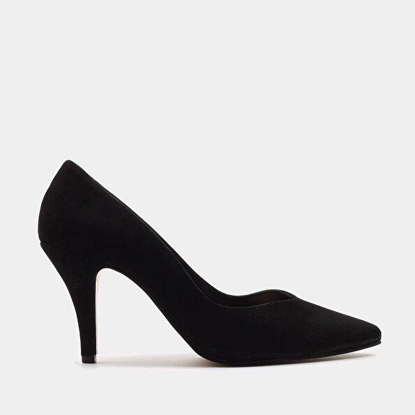 Resim Hakiki Deri Siyah Kadın Stiletto