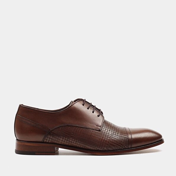 Resim Hakiki Deri Taba Erkek Klasik Ayakkabı