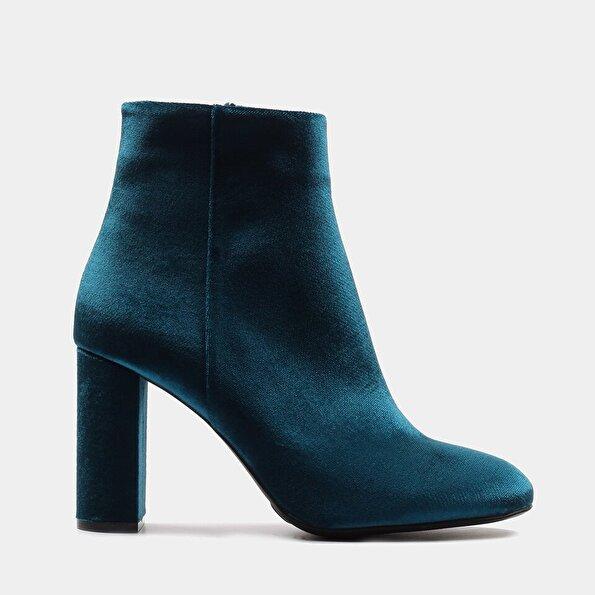 Resim Tekstil Mavi Kadın Topuklu Bot