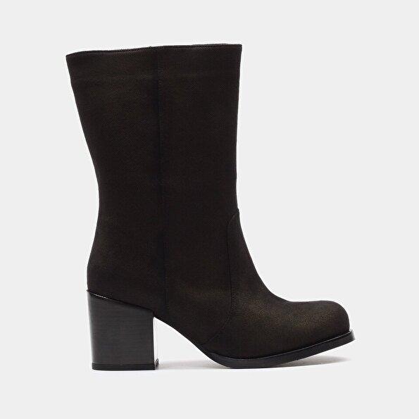 Resim Tekstil Siyah Kadın Çizme