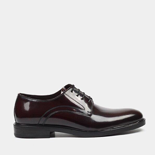 Resim Hakiki Deri Bordo Erkek Klasik Ayakkabı