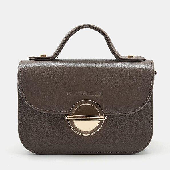 Resim Hakiki Deri Vizon Kadın Mini (Çapraz) Çanta