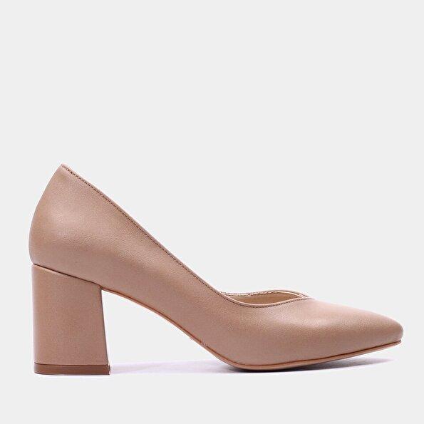 Resim  Naturel Yaya Topuklu Ayakkabı