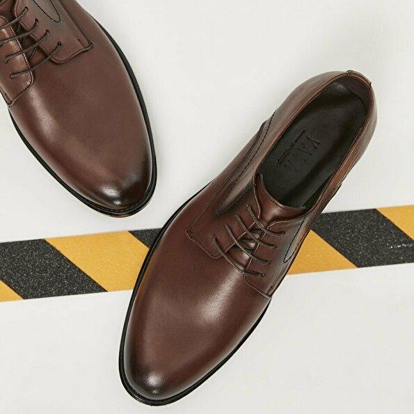 Resim Hakiki Deri Kahve Yaya Klasik Ayakkabı
