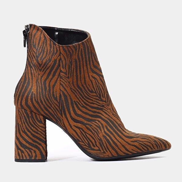 Resim Tekstil Taba Kadın Topuklu Bot
