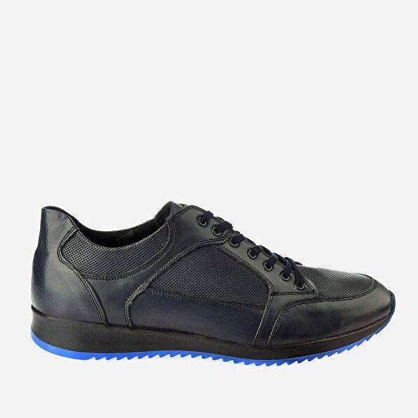 Resim Hakiki Deri Lacivert Yaya Spor Ayakkabı