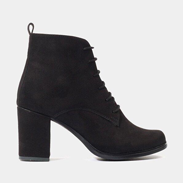 Resim  Siyah Yaya Topuklu Bot