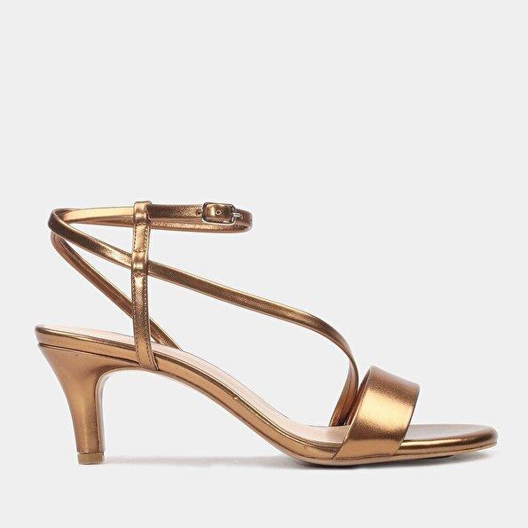 Resim  Bakır Kadın Topuklu Sandalet