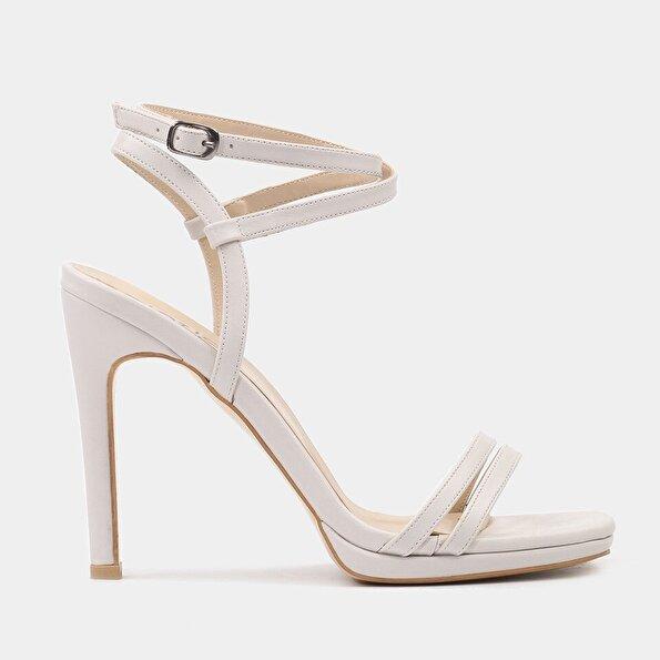 Resim  Kemik Kadın Topuklu Sandalet