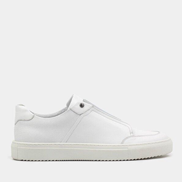 Resim Hakiki Deri Beyaz Erkek Spor Ayakkabı