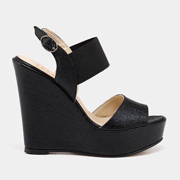 Resim  Siyah Yaya Sandalet