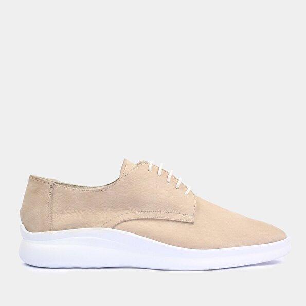 Resim Hakiki Deri Bej Erkek Günlük Ayakkabı