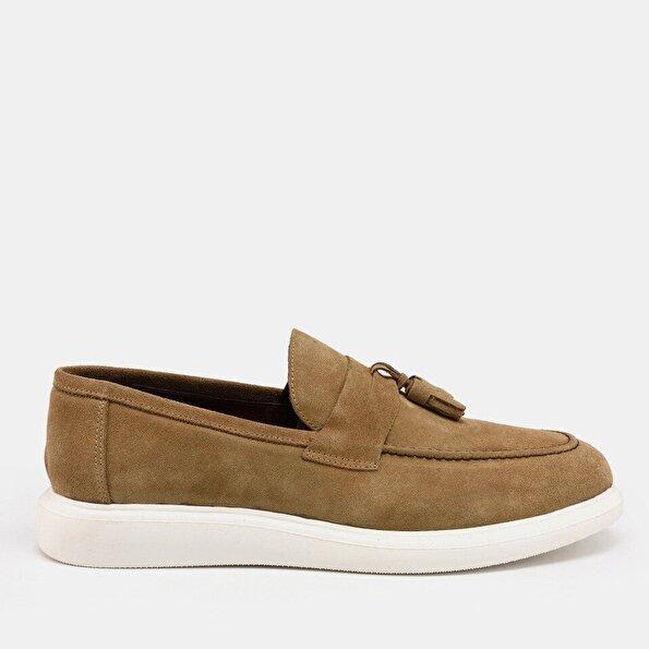 Resim Hakiki Deri Vizon Erkek Günlük Ayakkabı
