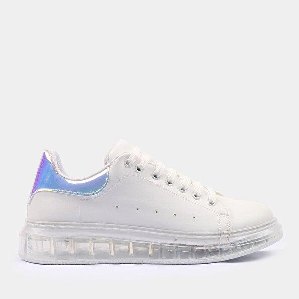 Resim Yaya Kadın Beyaz Spor Ayakkabı