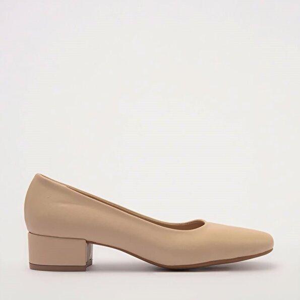 Resim Yaya Naturel Kadın Topuklu Ayakkabı