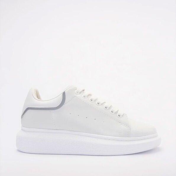 Resim Yaya Beyaz Kadın Spor Ayakkabı
