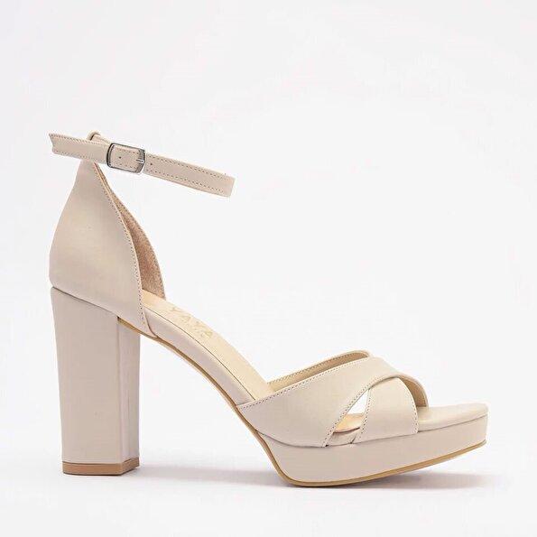 Resim Yaya Bej Kadın Sandalet