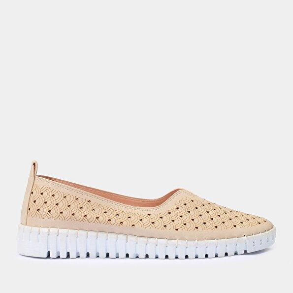 Resim Yaya Bej Günlük Ayakkabı