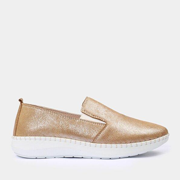 Resim Hakiki Deri Gold Yaya Günlük Ayakkabı