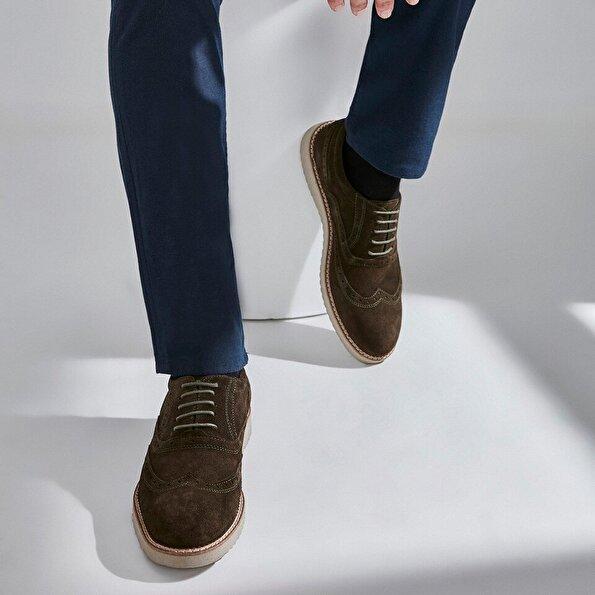 Resim Hakiki Deri Haki Erkek Günlük Ayakkabı
