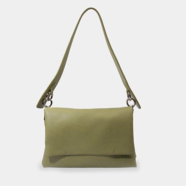 Resim Yeşil Kadın Çanta