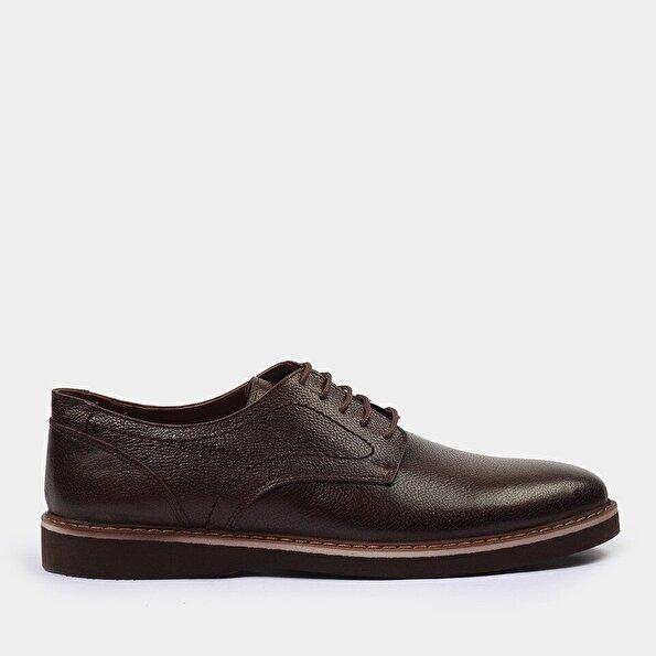 Resim Hakiki Deri Kahve Yaya Günlük Ayakkabı