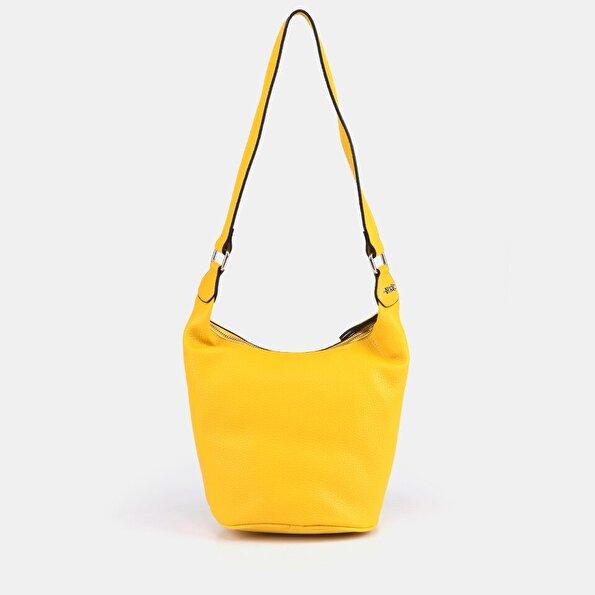 Resim Suni Deri Sarı  Kadın Çanta