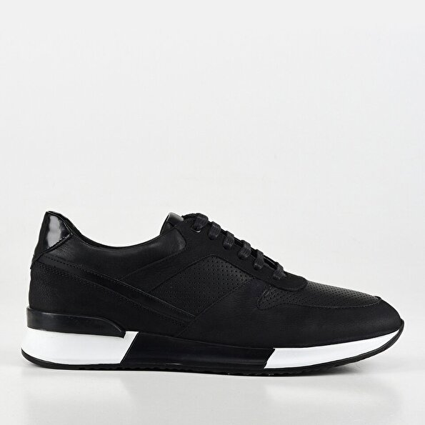Resim Hakiki Derİ Erkek Siyah Günlük Ayakkabı