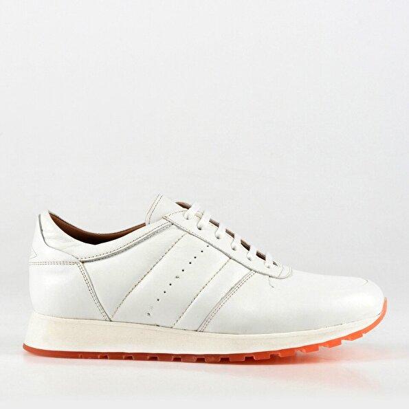 Resim Hakiki Derİ Erkek Beyaz Spor Ayakkabı