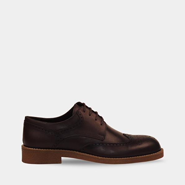 Resim Hakiki Deri Erkek Kahve Günlük Ayakkabı