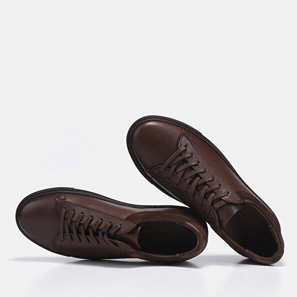 Resim Hakiki Deri Kahve Erkek Spor Ayakkabı