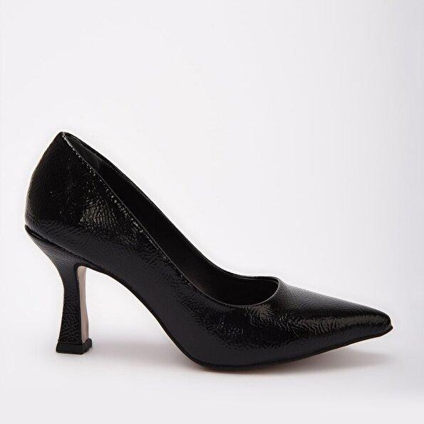 Resim Siyah Yaya Kadın Topuklu Ayakkabı