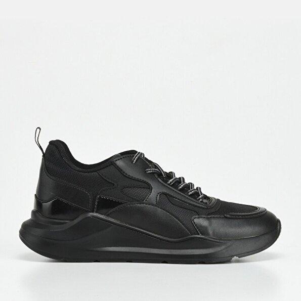 Resim Siyah Erkek Yaya Spor Ayakkabı