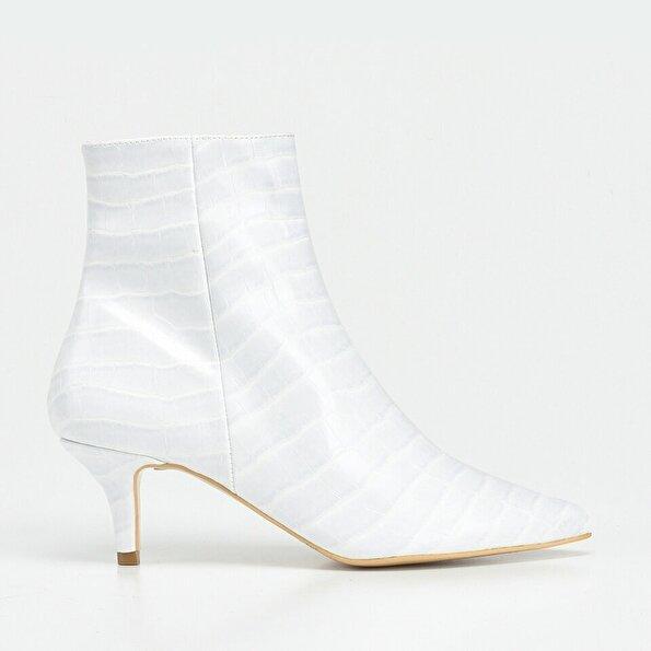 Resim Beyaz Kadın Topuklu Bot