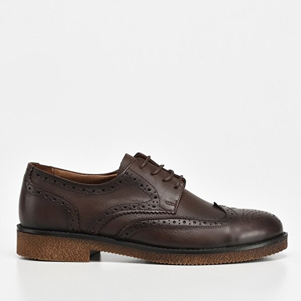 Resim Hakiki Deri Kahve Yaya Erkek Günlük Ayakkabı
