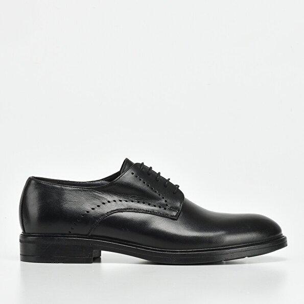 Resim Hakiki Deri Siyah Yaya Erkek Günlük Ayakkabı