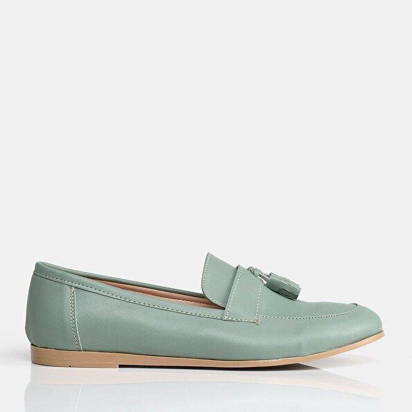 Resim Yeşil Yaya Kadın Günlük Ayakkabı