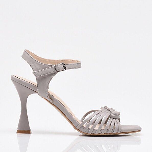 Resim Gri Yaya Kadın Sandalet & Terlik