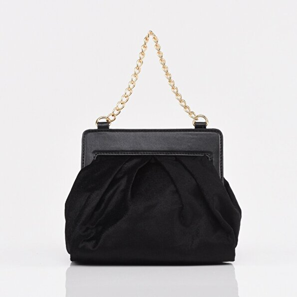 Resim Siyah Kadın Mini (Çapraz) Çanta