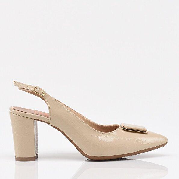 Resim Bej Yaya Kadın Topuklu Ayakkabı