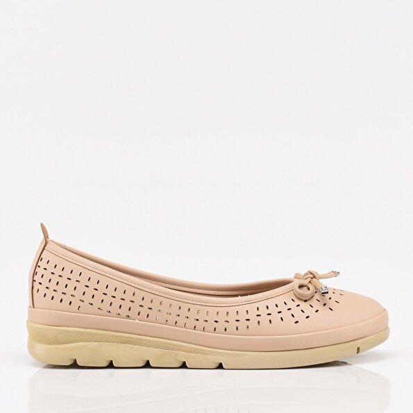 Resim Bej Yaya Kadın Günlük Ayakkabı