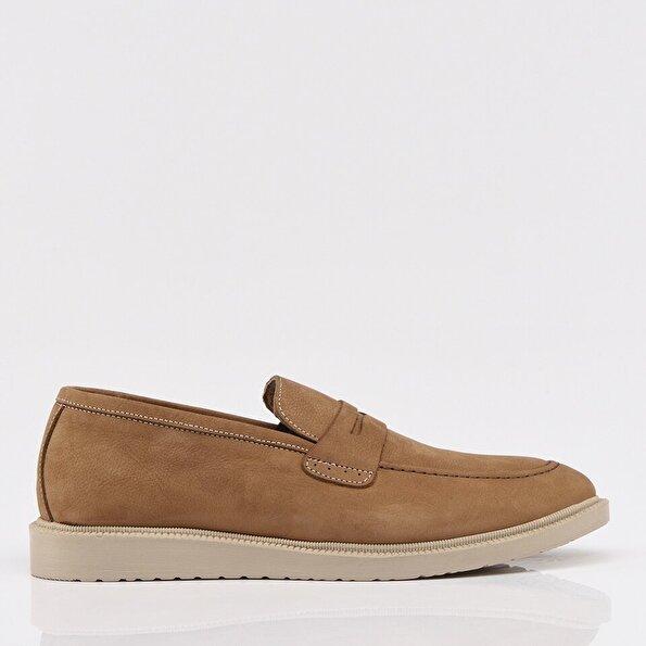 Resim Hakiki Deri Vizon Erkek Loafer