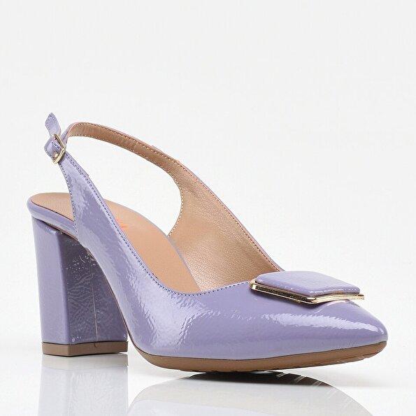 Resim Lila Yaya Kadın Topuklu Ayakkabı