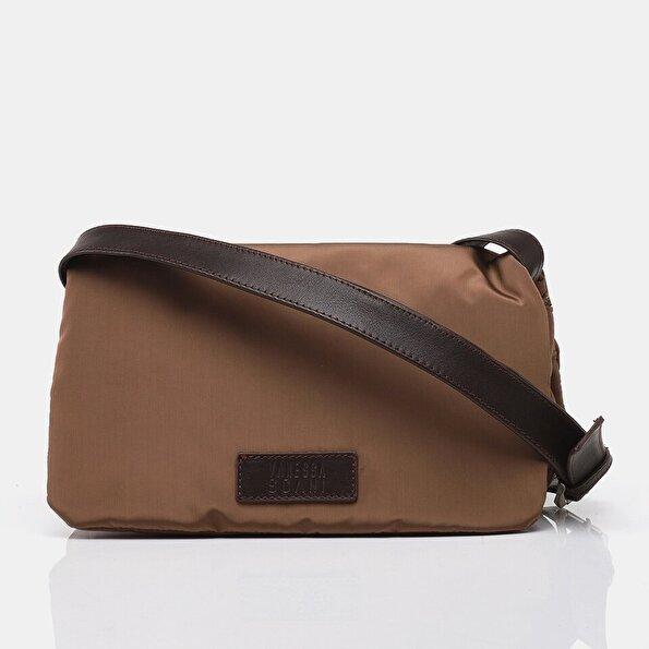 Resim Teks. ve  Deri Siyah Kadın Mini (Çapraz) Çanta